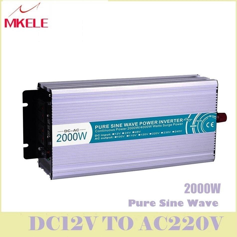 MKP2000-122R haute efficacité dc-ac pur onduleur à onde sinusoïdale 12 v 220 v 2000 w pour les convertisseurs de tension solaire domestique chine