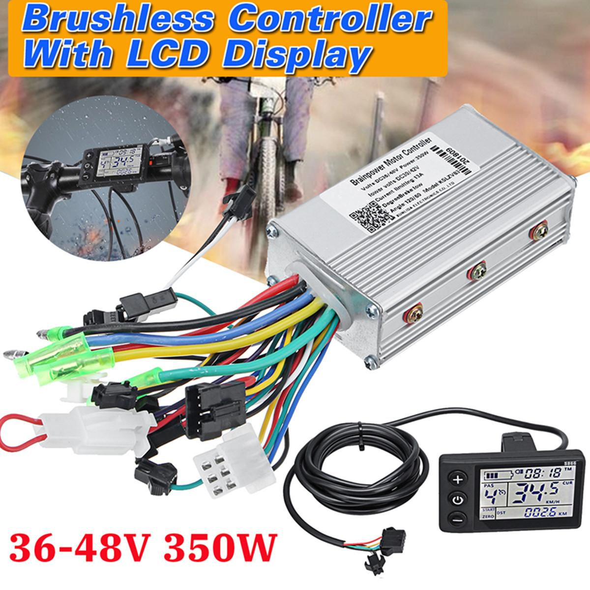 24V-48V 350W Brushless Motor Controller unit for Scooter E-Bike Motor Brushless Motor Controller with LCD24V-48V 350W Brushless Motor Controller unit for Scooter E-Bike Motor Brushless Motor Controller with LCD