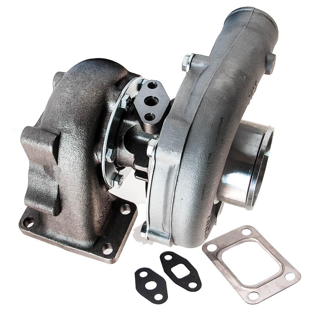 Universal Turbo Turbocharger T3T4 T04E A/R .57 Turbine 5 Bolts Flange Oil Cooled T3 T4 T04E .57 A/R for 1.6L to 2.3L 400HP