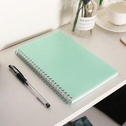 Caderno bonito do caderno da capa dura dos pp encadernado a espiral a5 da grade do ponto caderno dos artigos de papelaria