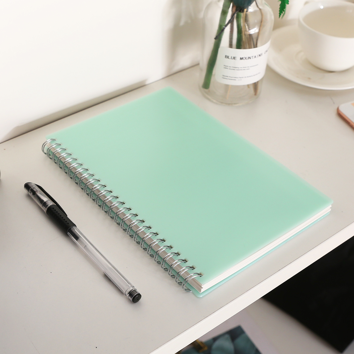 Cute PP Hardcover <font><b>Notebook</b></font> Banded Dot Grid <font><b>Spiral</b></font> <font><b>A5</b></font> <font><b>Notebook</b></font> Stationery Diary Memos for Student School Supply image