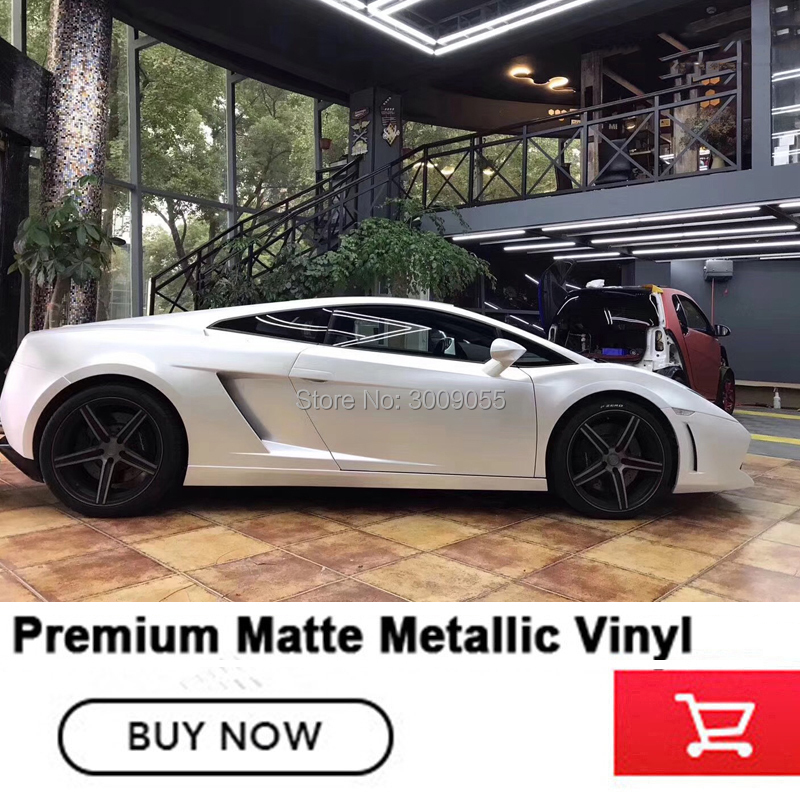 Lightning white Vinyl Wrap Car Body Sticker Wrapping pearl metal white Customized size 1.52*20m/roll high end market