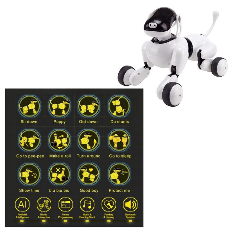 Robot vocal Intelligent jouet pour chien Application sans fil contrôlée Machine chiot interactif électronique parlant animal de compagnie pour les enfants - 3