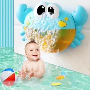 Image 4 - 25 stile Baby Bad Spielzeug Blase Maschine Große Frösche Krabben Automatische Blase Maker Gebläse Blase Maker Badewanne Seife Maschine Spielzeug