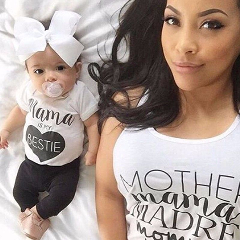 2Pcs Newborn Baby Boys clothing set Kids Casual T shirt Tops Long Pants short sleeve Cotton Outfits white black Clothes Set 0 2Y in Clothing Sets from Mother Kids