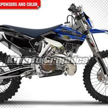 И рисунком «кунг-фу» графики для мотокросса, для езды на мотоцикле, Наклейка Набор наклеек цвет: черный, синий для Husqvarna TE FE TC FC 125 250 300 350 450 501