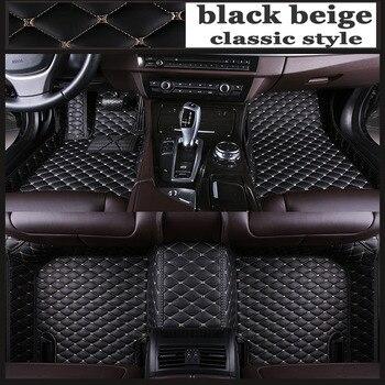 ZHAOYANHUACustom car floor mats Case for Peugeot 206 207 308sw 3008 4008 508 rcz 5D Waterproof leather Anti-slip carpet liners