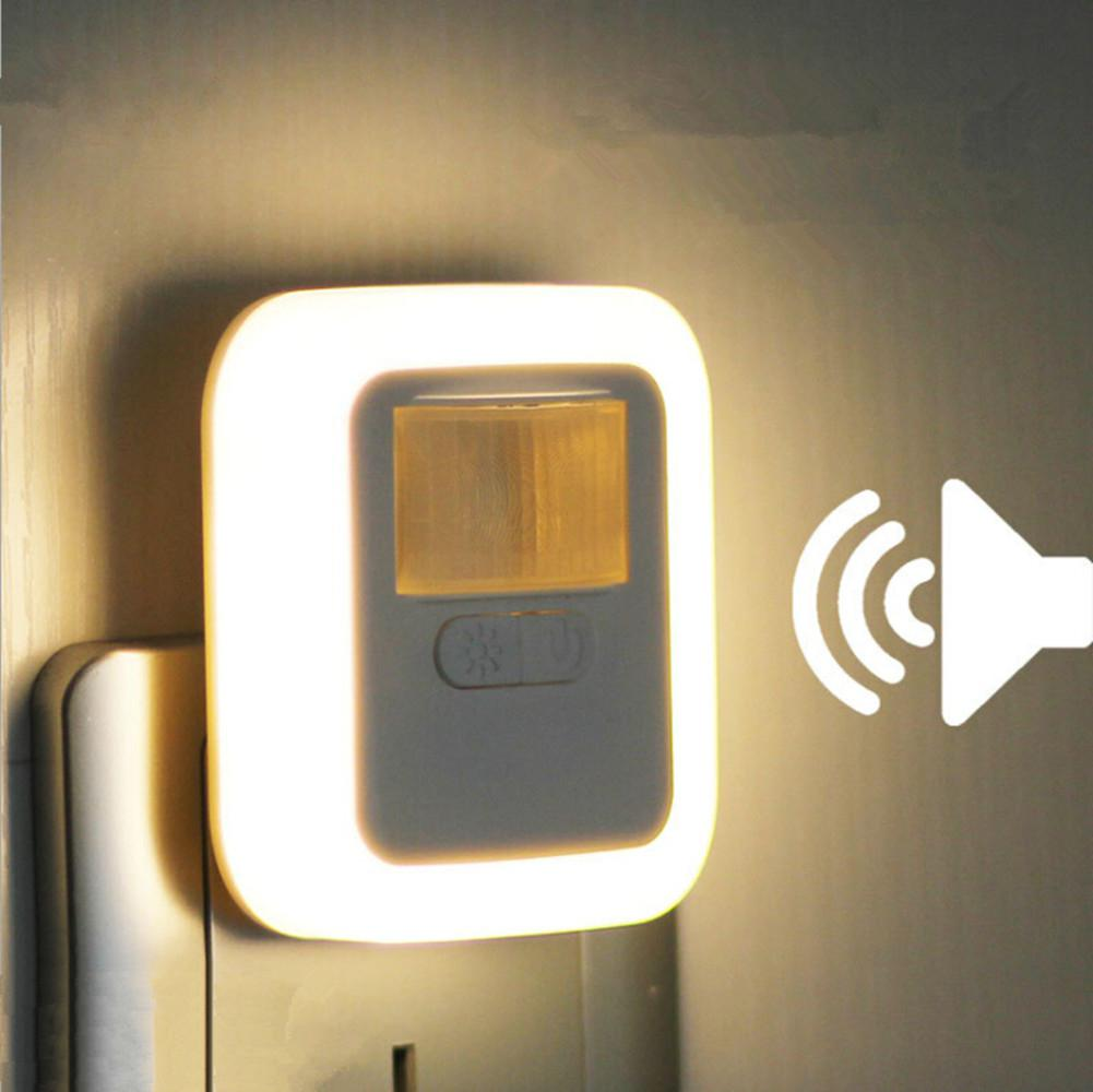 LED Night Lamp Sound Light Control Sensor Smart Home Night Lamp Auto On/Off Dimmable Home Stair Closet Emergency Wall Lights