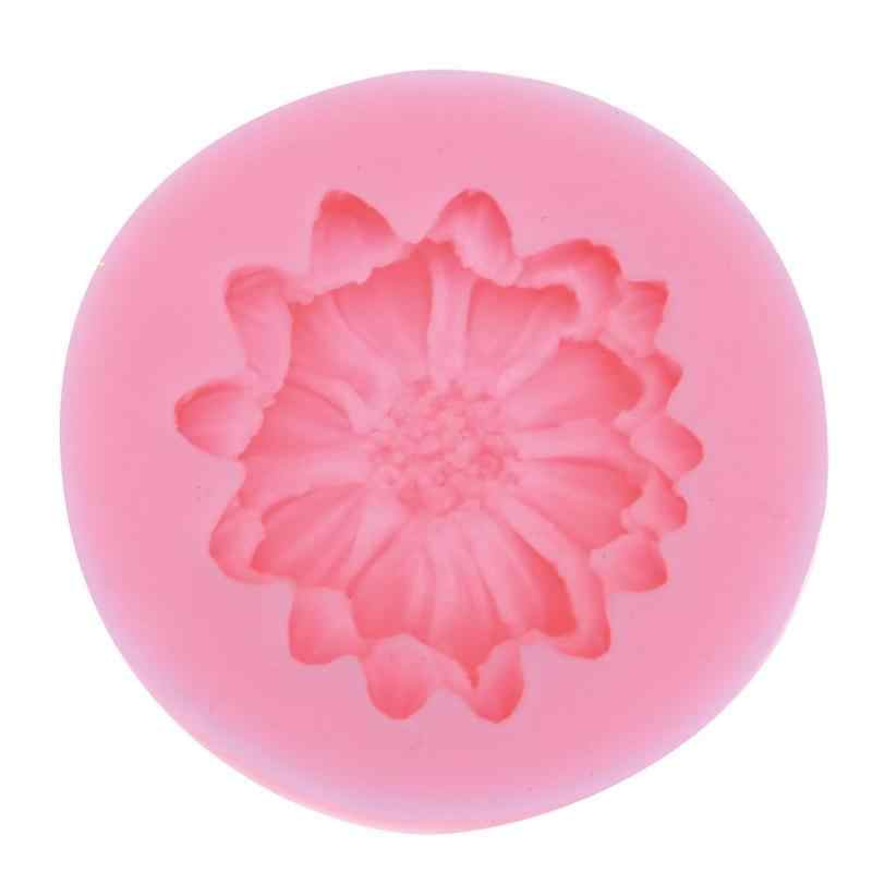 Lily Peony Daisy Shape Fondant Cake Mousse Chocolates Silicone Mold Embossing Die Sugar Arts Flower DIY Baking Tools Cake Mold