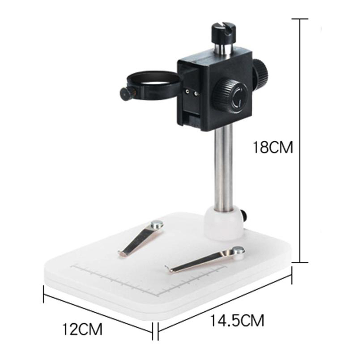 1000x Mega Pixels Digital Microscope with LCD Display and 8 LEDs Stand for Motherboard Repair 2