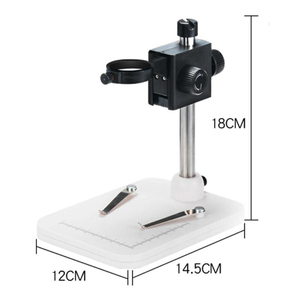 "Image 3 - 1000x 2.0MP USB Digital Electronic Microscope DM4 4.3""LCD Display VGA Digital Microscope 8 LED Stand for PCB Motherboard Repaire"