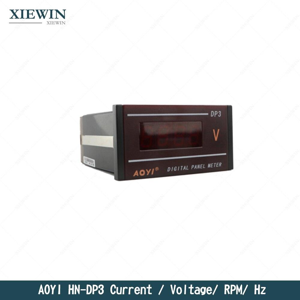 HN-DP3 affichage numérique AC DC ampèremètre voltmètre AOYI HZ compteur rpm M/min mètre