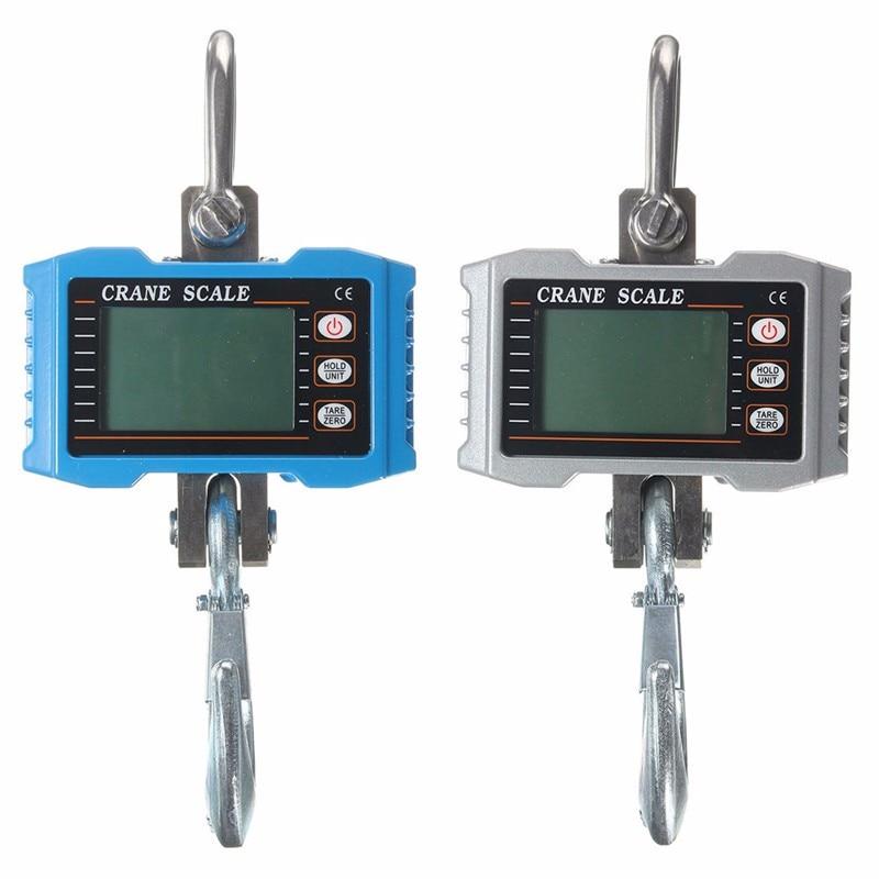 Digital de Alta Escala do Guindaste Pendurado Escala Precisão Heavy Industrial Lcd Display Digital Hanging Gancho 1000kg 1t 2000lbs