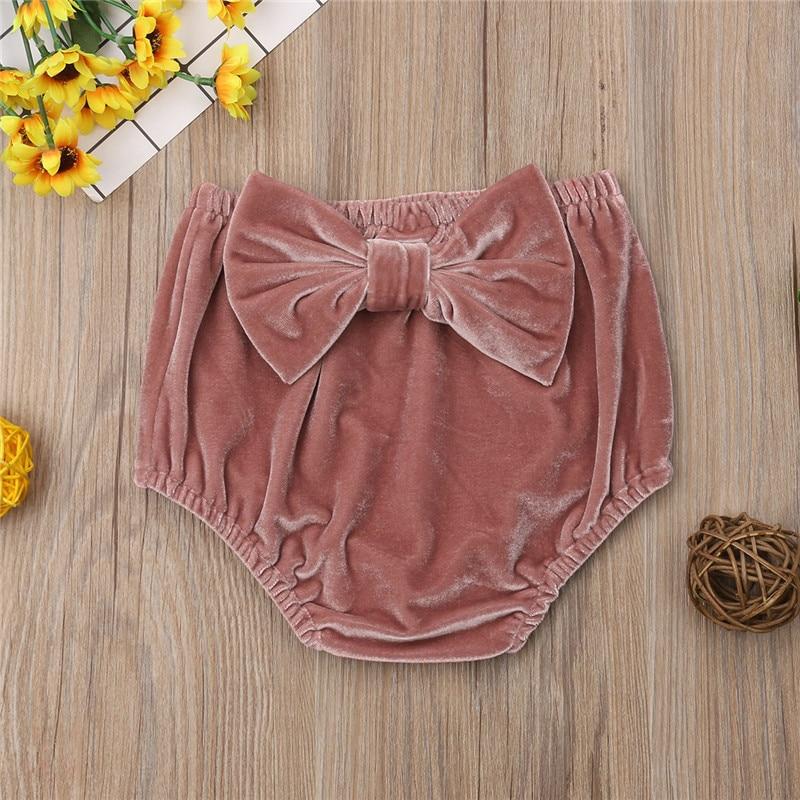Baby Clothing Bow   shorts   cover bloomer baby girls panties bloomers Newborn pleuche   Shorts