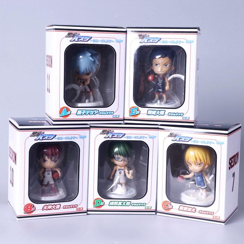 5pcs/Set 10CM Kuroko no Basket Anime Action Figure Model In PVC collection Cute Cartoon toys New Unisex Christmas Gifts