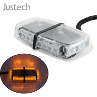 Justech 1 pcs 12V Amber LED 24W Vehicle Roof Lightbar Flashing Beacon Strobe Light Magnetic