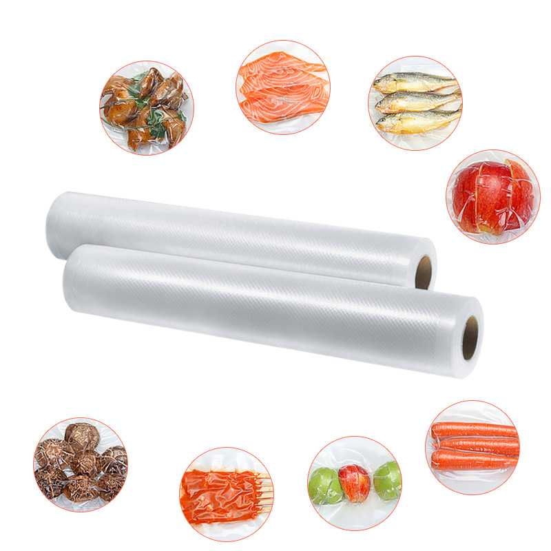 White Dolphin Kitchen 3 Rolls Food Vacuum Sealer Bags 12 15 20 25 x 500cm For Food Saver Rolls Home Sealing Vacuum Packer Bags