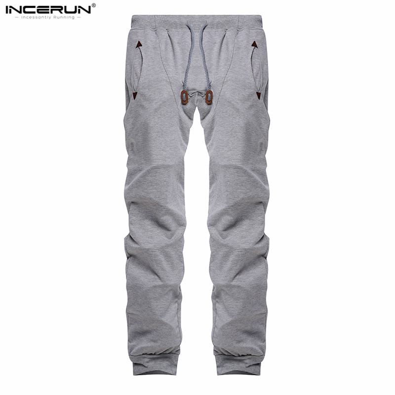 INCERUN Mens Sweatpants Pants Loose Fitness Tracksuit Pants Joggers Workouts Trousers Hiphop Pants Hombre Pantalon Clothing