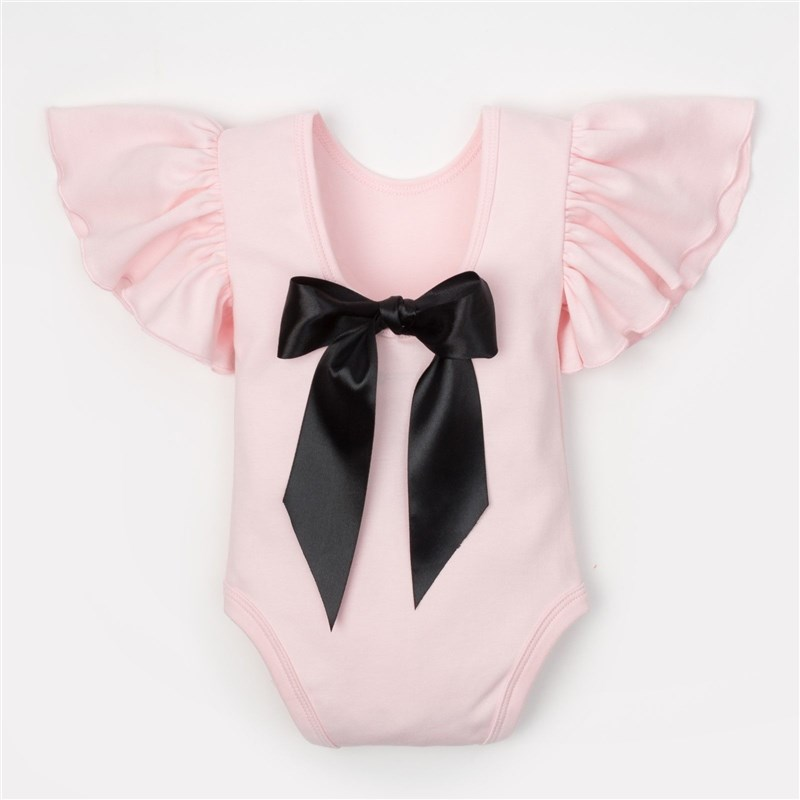Bodysuit baby Crumb I Black bow, height 62-68 cm (22), 3-6 month. bodysuit sleeveless lace crumb i tropics 3 12 mo
