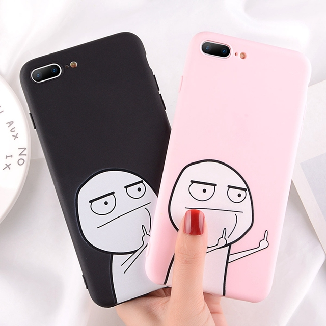Silicone Funny Pattern Phone Case