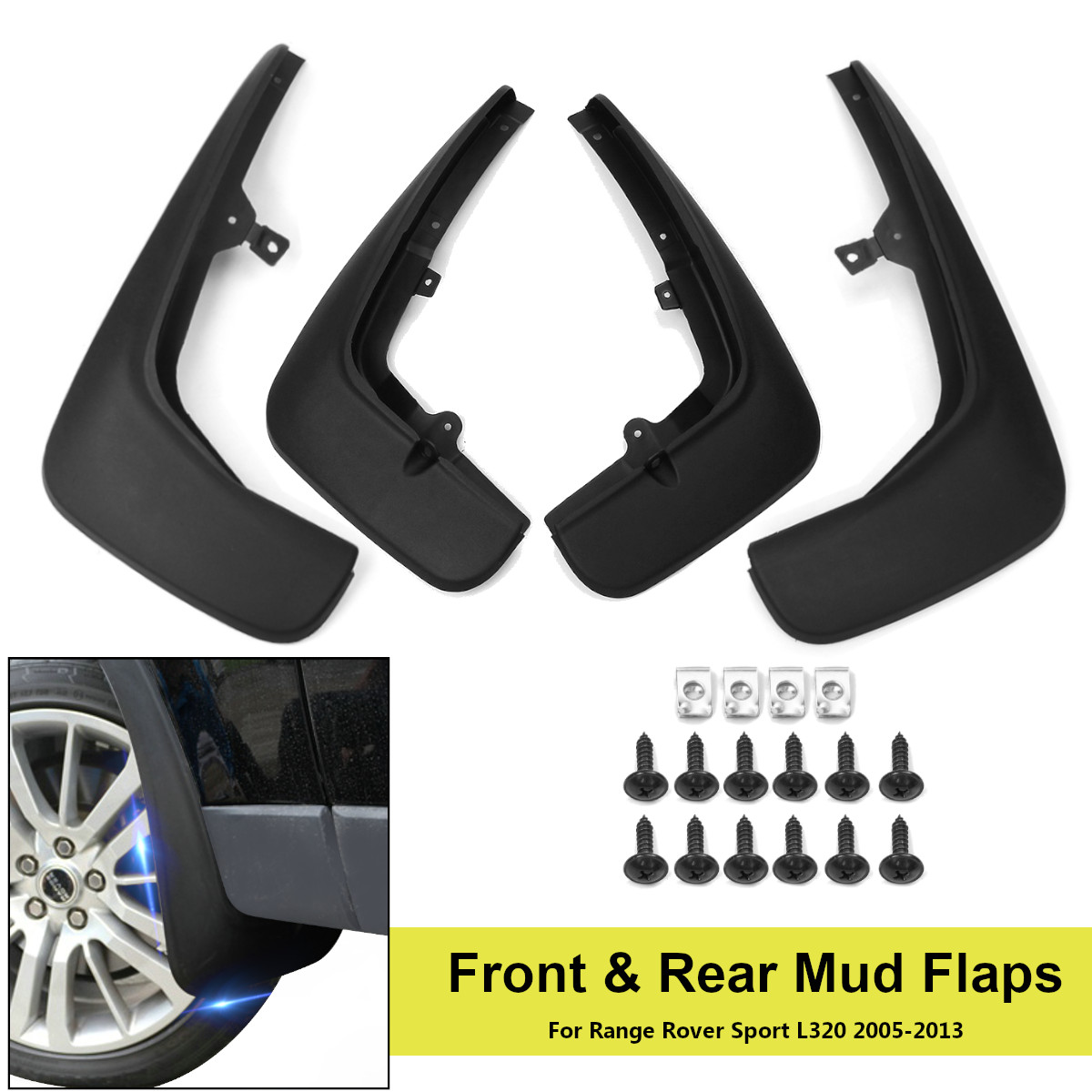 Front Rear Car Mud Flaps For Range Rover Sport L319 2005 2013 Mudguards for Fender Mudflaps