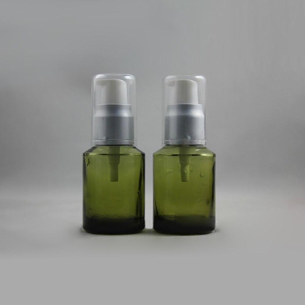 50 pcs 1 onca garrafa de locao de vidro verde 1 oz cor verde de vidro