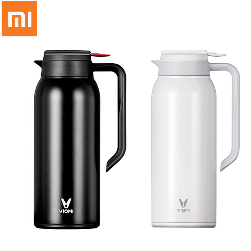 Xiaomi VIOMI Thermos Cups Mijia 1.5L Stainless Steel Vacuum Thermos Bottle 24 Hours Flask Portable Insulation Water Kettle 1 5l big capacity xiaomi viomi stainless steel bottle thermos water vacuum bottle cup flask pot 24h keep warm for home office
