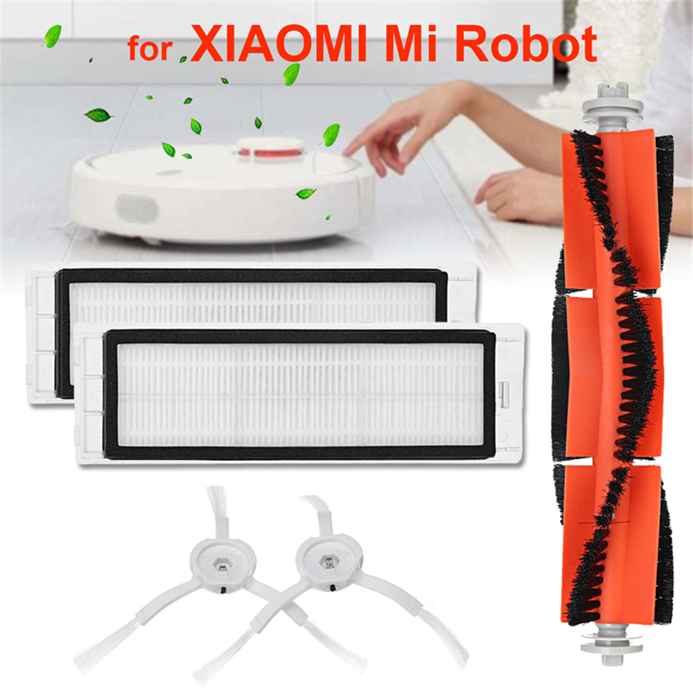 Original 01 5PCS Set For 01 Mi Robot Vacuum Smart Cleaner Accessories Invisible Wall Side Brushes Filter Rolling Bush