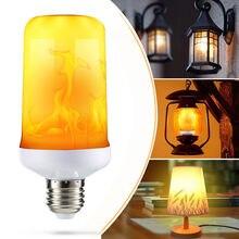 Креативный светильник с 3 режимами+ гравитационным датчиком, Пламенный светильник s E27, светодиодный светильник с эффектом пламени, лампа 7 Вт, имитирующая мерцание, декоративная лампа