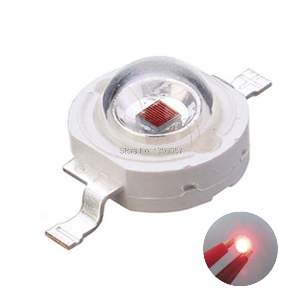 5pcs <font><b>730nm</b></font> 740nm 3W High Power LED Lamp IR Far Red LED Far Infrared LED 3W 720NM IR LED Diode Emitter Light For Project DIY image