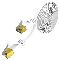 3 5 M / M / S Ethernet Lan Internet Computer Flat Cat 7 Cable Connector Rj45 Ethernet Network Cable For Networking