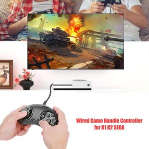 Image 4 - Gaming Pad 16 Bit Gamepad Universal Wired Game Handle Controller Joystick Game Console for K1 K2 SEGA Aircraft/9 hole SEGA