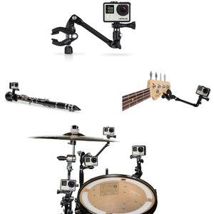 Jam Cámara música montaje Clip abrazadera soporte para Gopro Hero7 6 5 4 3 Xiaomi yi 4 K SJCAM SJ5000 SJ6/7/8/EKEN H9 H5 guitarra instrumento