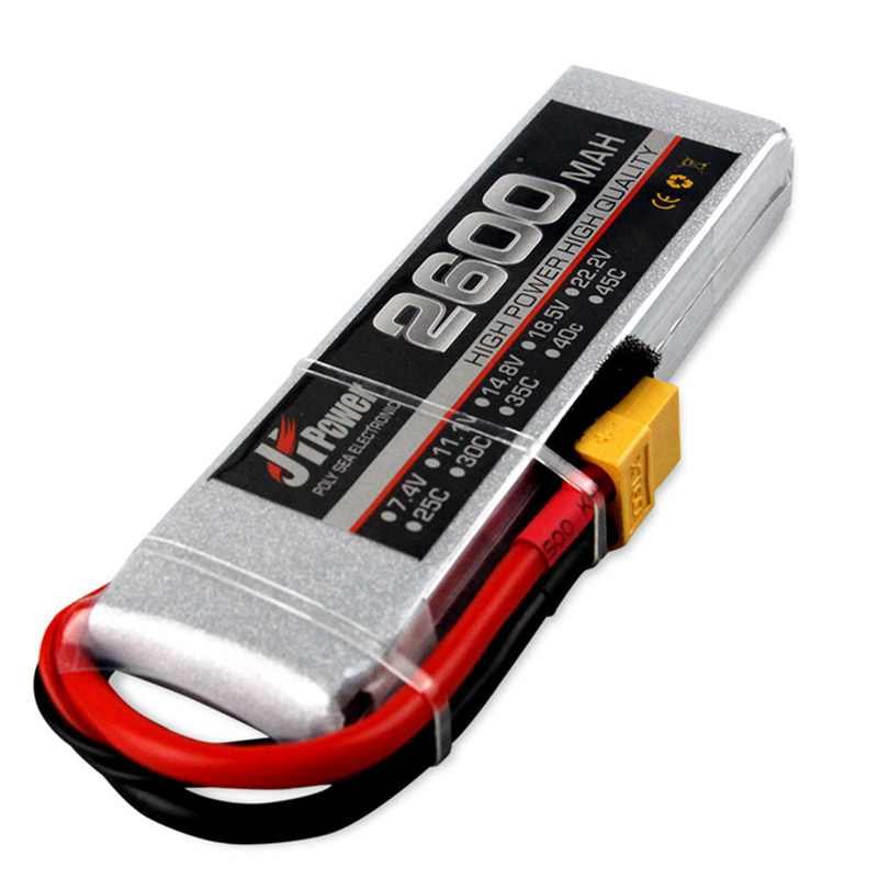 High Power JH Lipo RC Car Battery 2600 2s 35c 7.4v T/TX60 Plug Lipo Battery For 1/10 RC Car RC FPV Racing Drone Multicopter