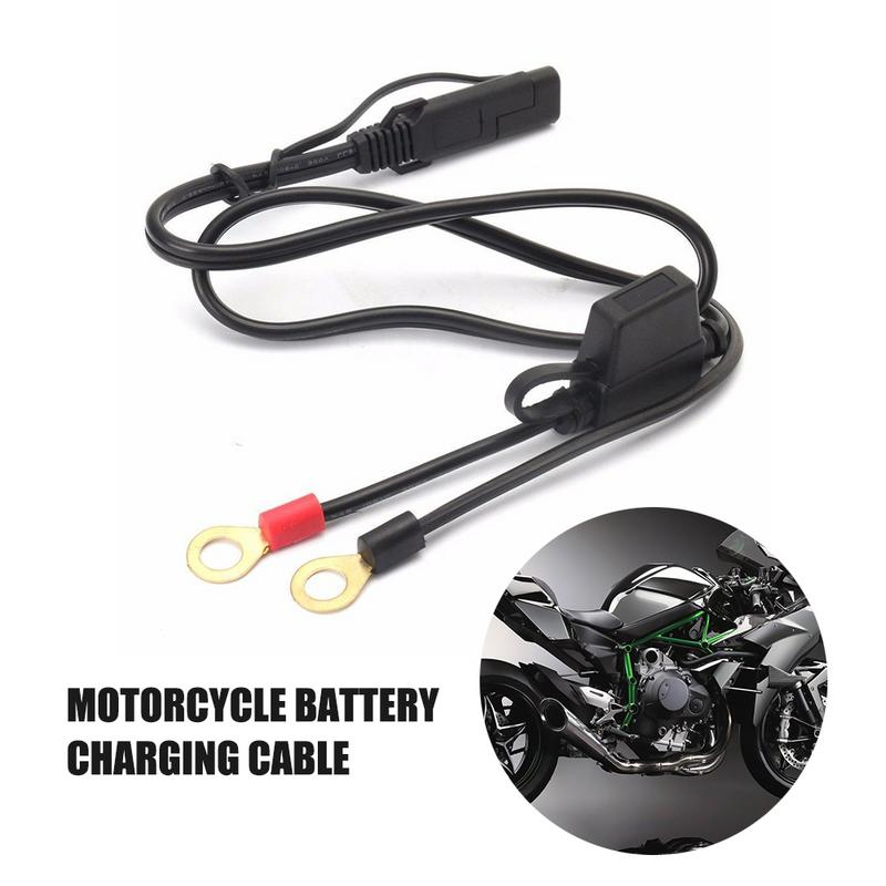 1PCS Motorcycles Or Snowmobiles Battery Charger SAE Charge Cable, SAE Quick Disconnect Plug To 12V Ring Terminal