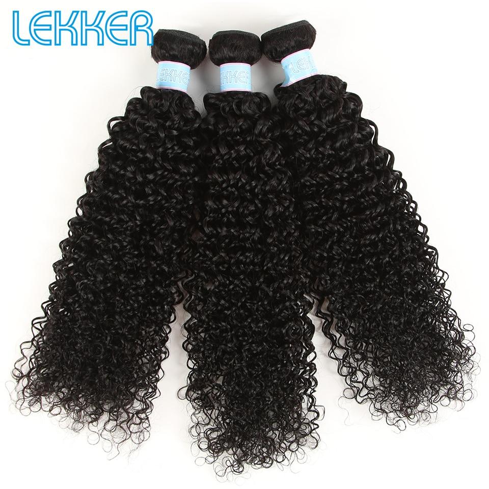 Lekker Mongolian Hair Kinky Curly Human Hair Weave Bundles Hair Curly Hair Extensions 8-26 Inch