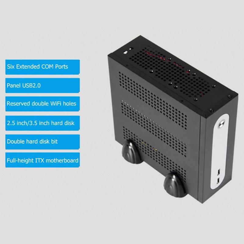 E-G3 мини ITX башня ПК компьютер чехол для материнская плата USB2.0 COM отверстия мини ITX сервера башня 6xcom Порты и разъёмы встроенный SGCC