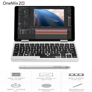 One Netbook One Mix 2S Notebook 7 inch Windows 10.1 Home Version Intel Core M3-8100Y 3.4GHz 8GB DDR3 256GB PCIE SSD Dual WiFi netbook