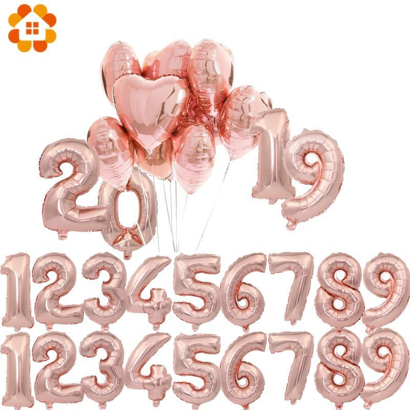 Back To Search Resultshome & Garden Festive & Party Supplies Diplomatic Happy Birthday Party Decorations Rose Gold Letter Balloons 32inch Number Foil Balloon Globos Wedding Baby Shower Party Supplies