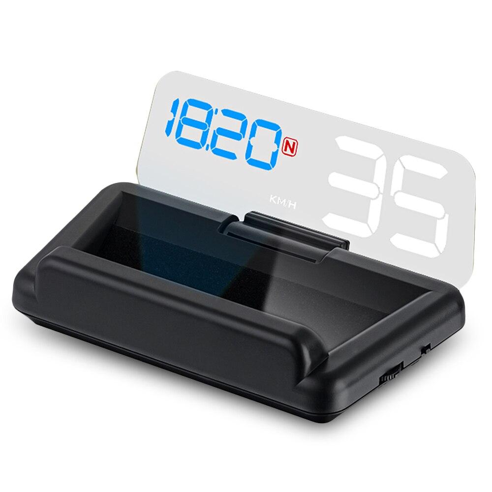 Zeepin C500 nouveau miroir Hud affichage tête haute Auto OBD2 ELM327 projecteur de vitesse de voiture compteur de vitesse détecteur de voiture KMH MPH RPM carburant 40