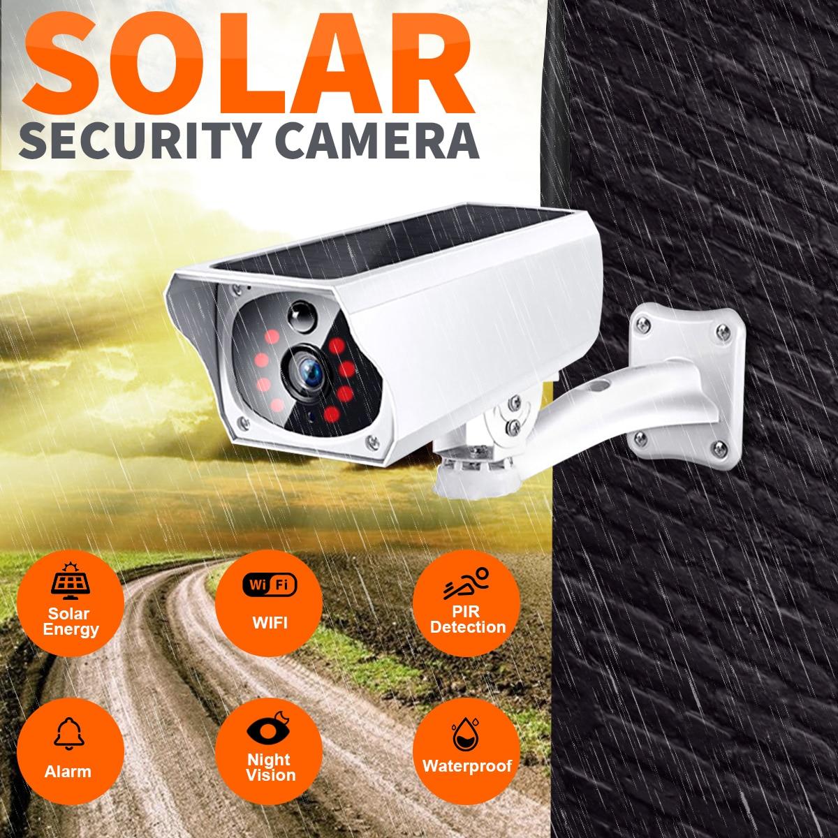 Solaire Caméra caméra de sécurité Sans Fil À Distance Surveiller Vidéo Wifi Système D'alarme Infrarouge Imageur Ip Caméra Wifi Caméra