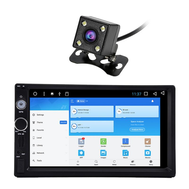 Android 7,1 7 дюймовый сенсорный экран автомобиля Bluetooth mp5 плеер автомобиля двойной шпиндель навигации машина Автомобильная электроника