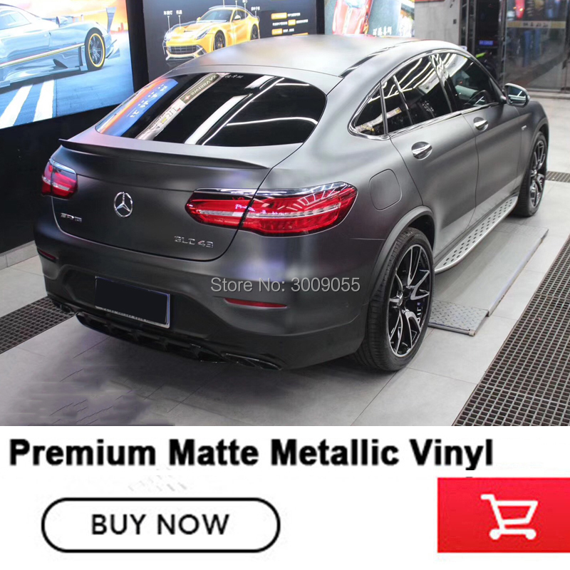 Premium Matte Metallic dark platinum Vinyl Wrapping film Indoor life 5 years when followed rules of