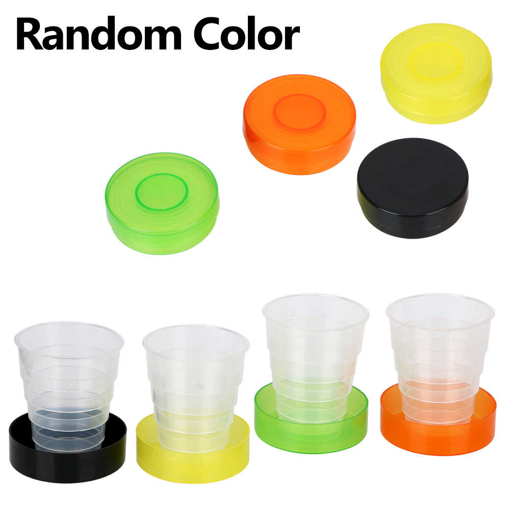 Collapsible Cups Portable For Outdoor Sports Travel Plastic Folding Cup Water Drinking Tea Cup Retractable Telescopic