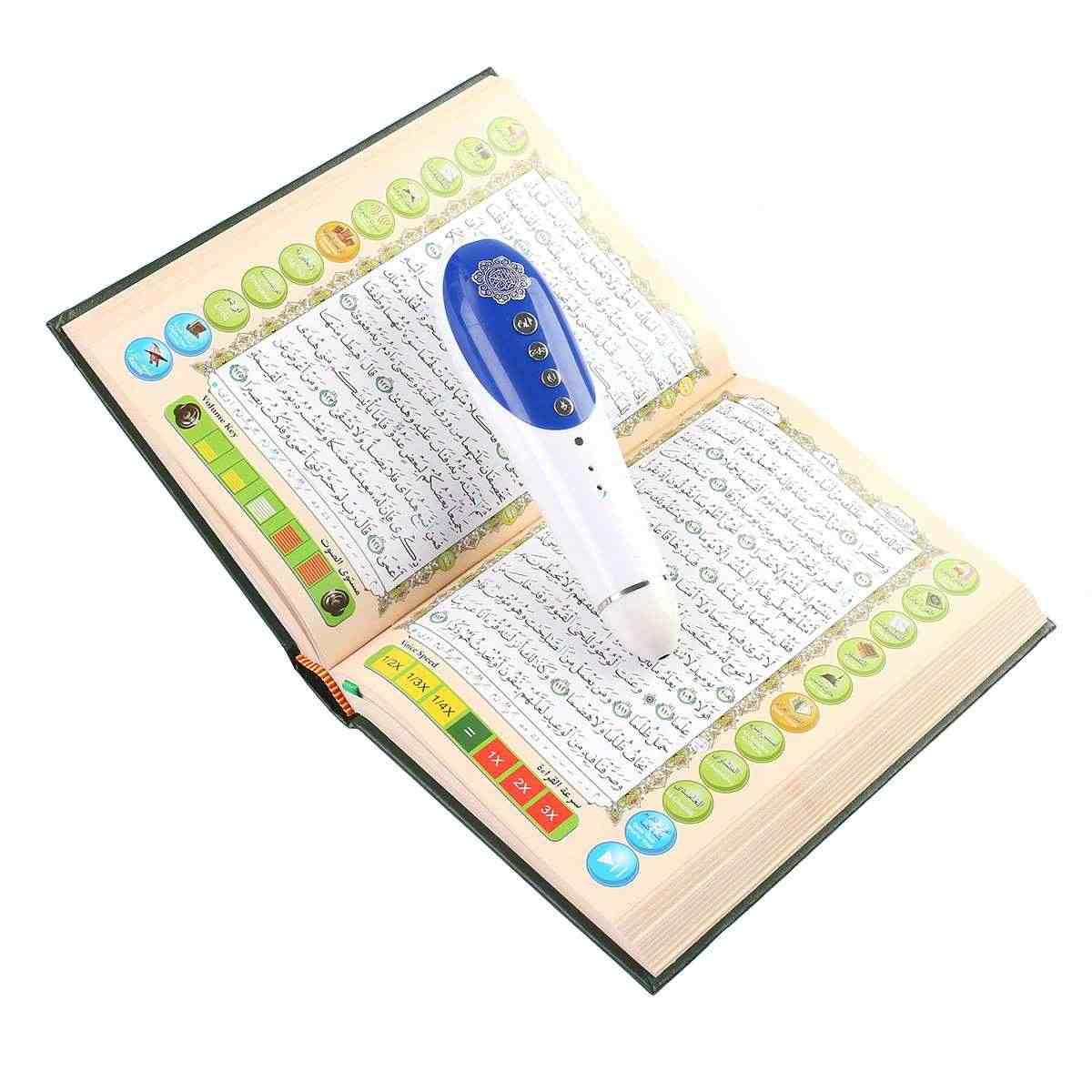 LEORY 8GB قارئ القلم القرآن الكريم الرقمي 23 لغات الرقمية رمضان قارئ القرآن الكريم القلم المتكلم قراءة FM MP3 TF مع 6 كتب