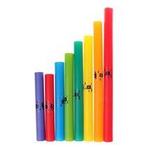 лучшая цена Tooyful Exquisite Colorful 8 Tones C Major Diatonic Scale Set Percussion Instrument Tubes Kids Musical Toys Gift