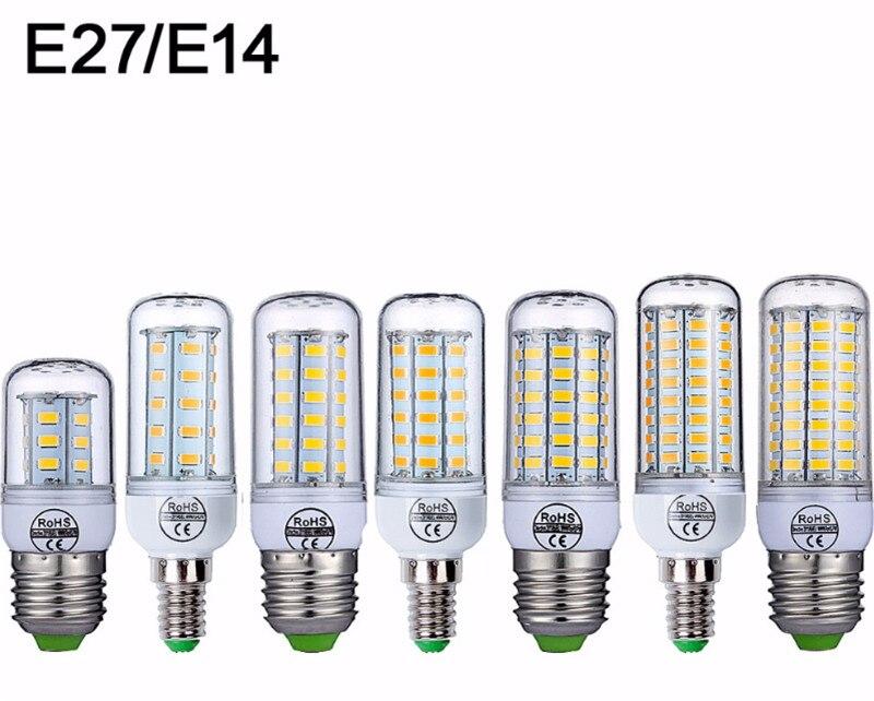 E27 LED Lamp E14 LED Bulb SMD5730 LED Corn Bulb Stairs Corridor Cabinet LED Bulbs Tubes for Kitchen Living Room