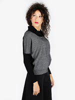 Knitted tricot with lurex
