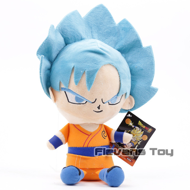 Dragon Ball Z Goku Super Saiyan Deus Super Saiyajin Goku Azul Plush Soft Toy Stuffed Boneca 31 cm