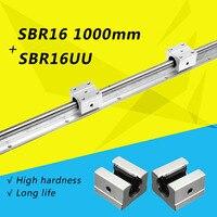2x SBR16 1000 мм Поддержка линейный рельс оптическая ось руководство + 4 SBR16UU подшипник блок